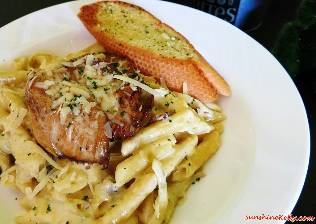Creamy Mushroom Pasta with Chicken, Bites Cafe Lake Fields, Bites Cafe, Sungai Besi, coffee place, malaysia cafe, Coffee, Waffle, Breakfast Pizza, Frittata, Affogato, The last polka, ice cream with coffee, chilled out place, chilled out cafe, egg dish