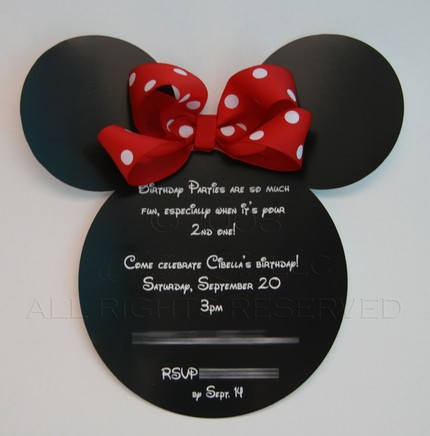 Mickey Minnie Mouse Party Invitations