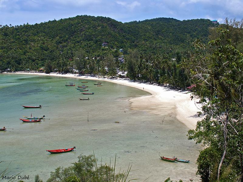 Plage au nord de l'île de Ko Pha Ngan