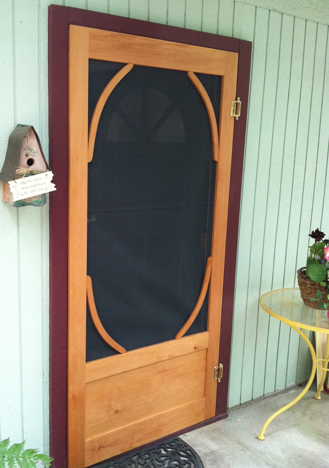 Baraa woodworking llc custom screen doors for Custom screen doors