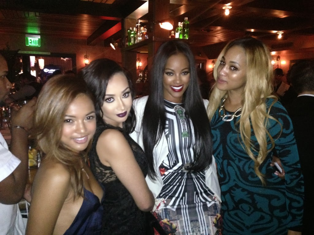 Basketball Wives L A       Draya Michele  amp  Sundy Carter FIGHT at Pre     According to TMZ  their first big fight happened at an L A  night club after Carter allegedly started bad mouthing Michele     s boyfriend and Dallas Cowboys