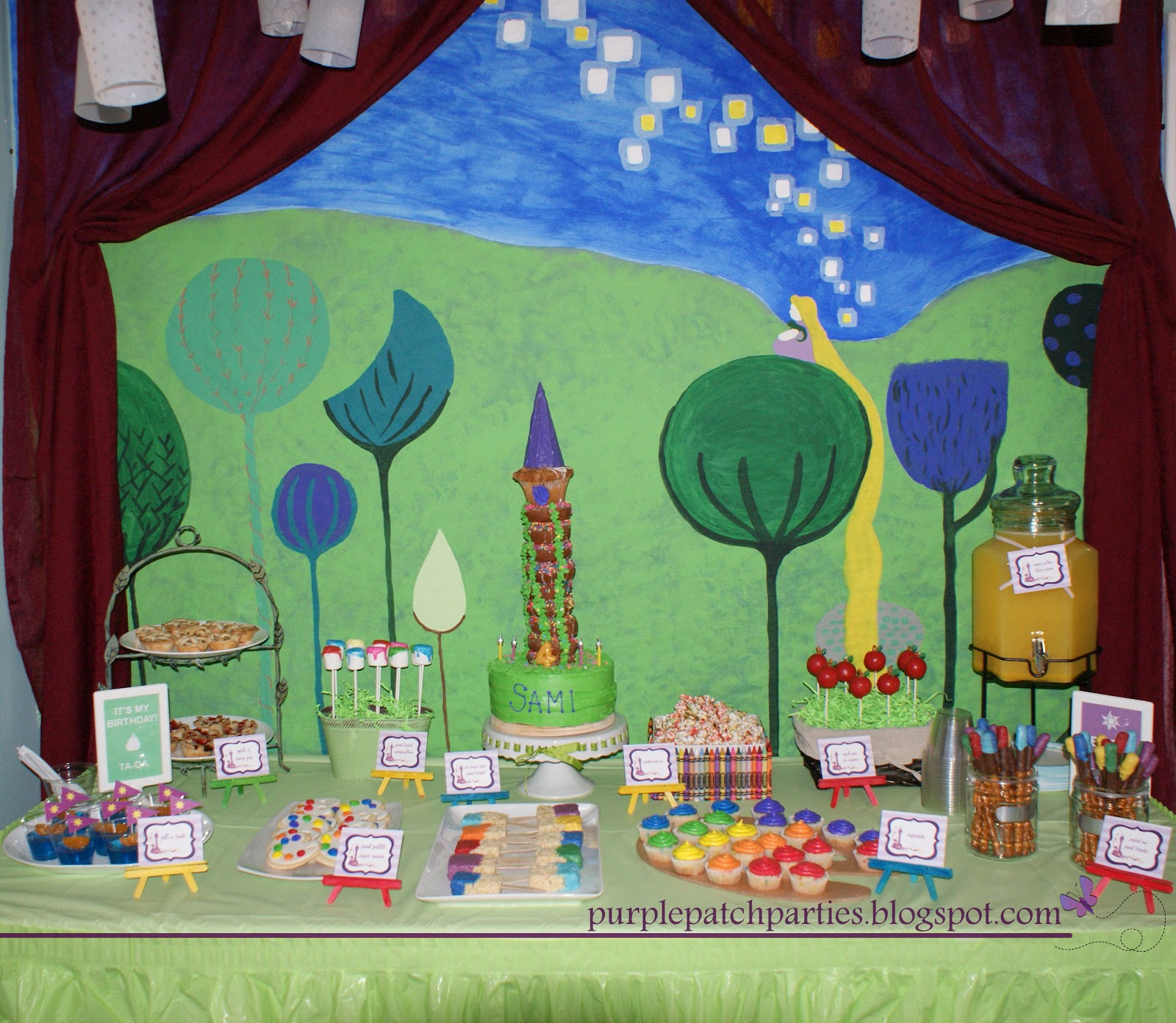 The Purple Patch: Rapunzel Tangled Birthday Party