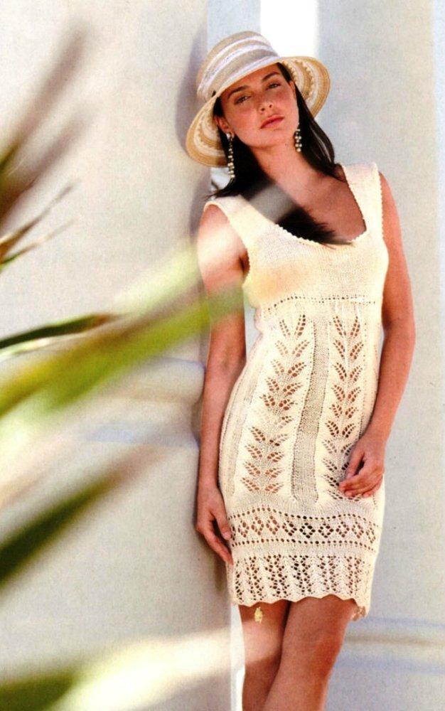 Вязание на спицах летние сарафаны 202