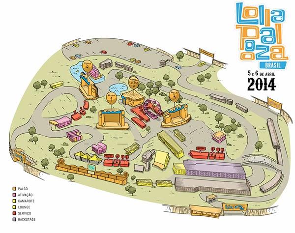 Caravana Lollapalooza RJ - Mapa 2014