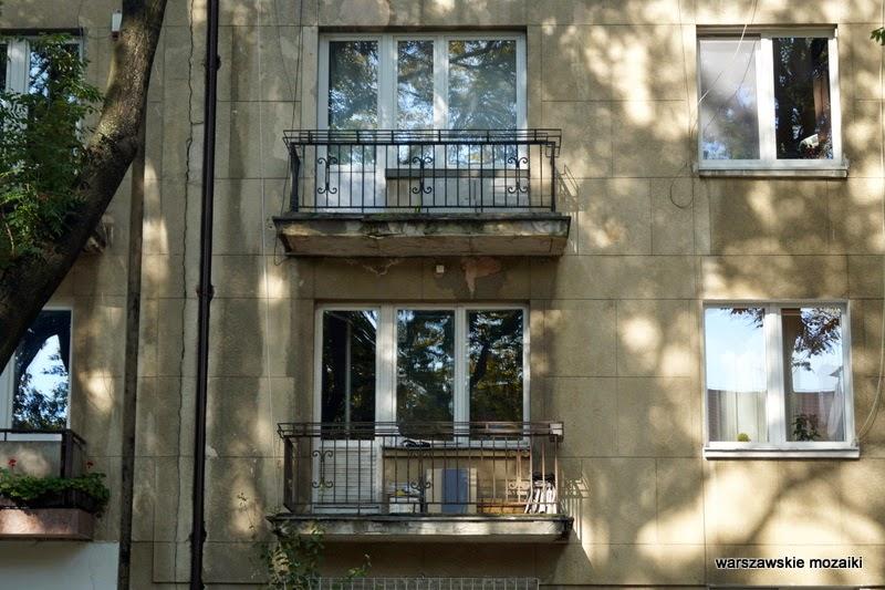 balkon Warszawa Saska Kępa Praga Południe modernizm willa ulica warszawskie wille przedwojenna