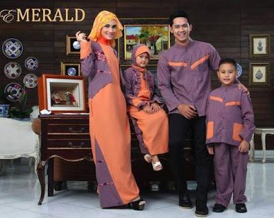 Contoh Foto Desain Busana Muslim Keluarga Elegan