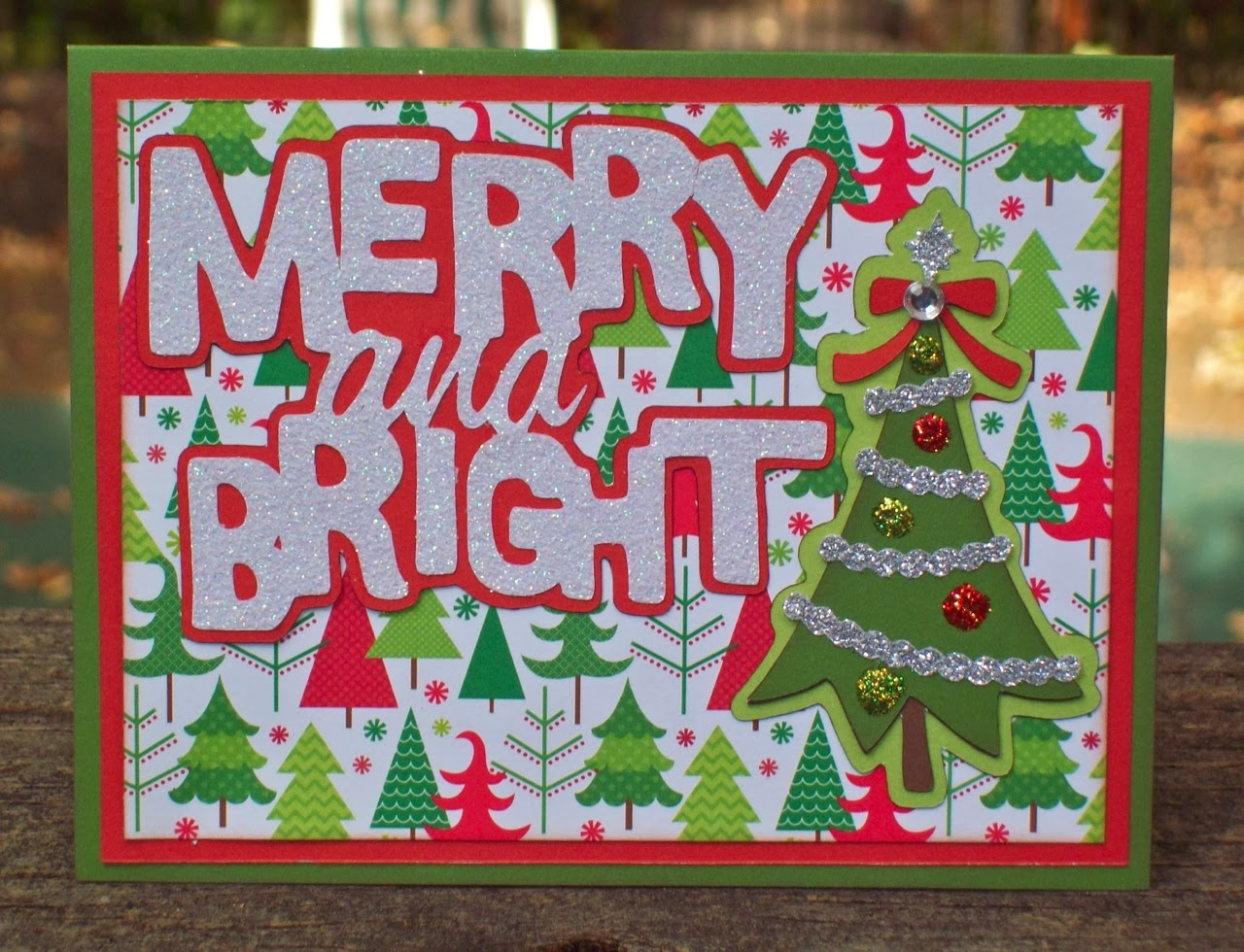 Cricut Crazy Scrapper Merry And Bright Christmas Card For
