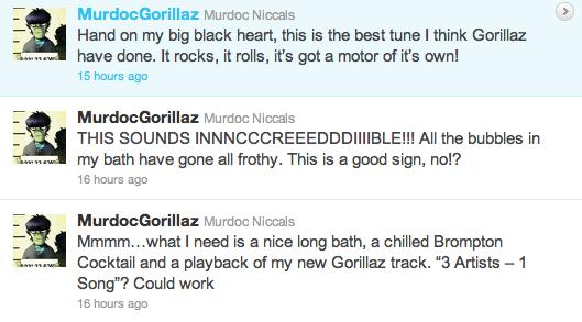 murdoc twitter, gorillaz murdoc twitter, gorillaz tweets, gorillaz twitter