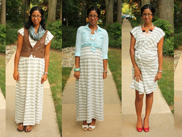 Pregnancy Wardrobe: Maxi Dress 5 Ways