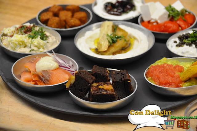 ארוחת בוקר ספיישל זוגי Israeli breakfast Joe's cafe special