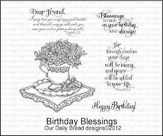 Our Daily bread Designs, Birthday Blessings