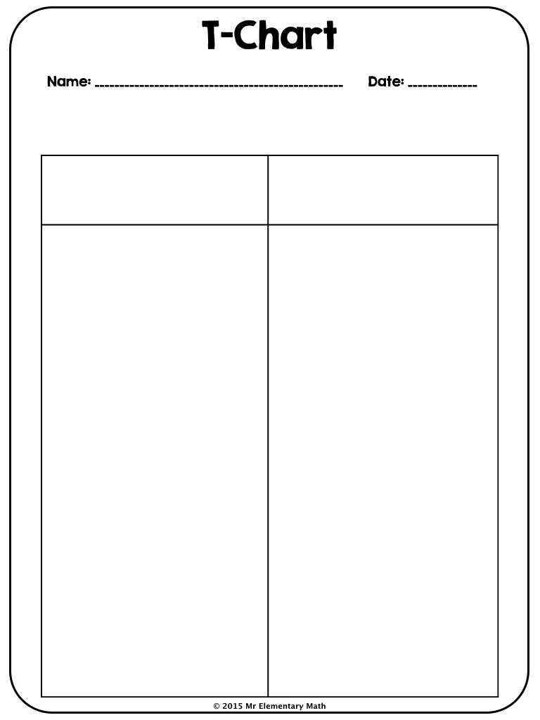 Use This 2 Column T Chart To Get Students To Take Notes In Your Class  Examples Of T Charts