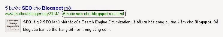 SEO Url bài viết blogspot