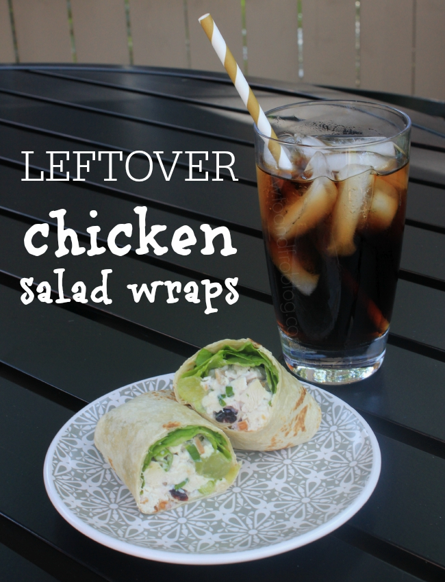 effortless meals; leftover chicken salad wraps