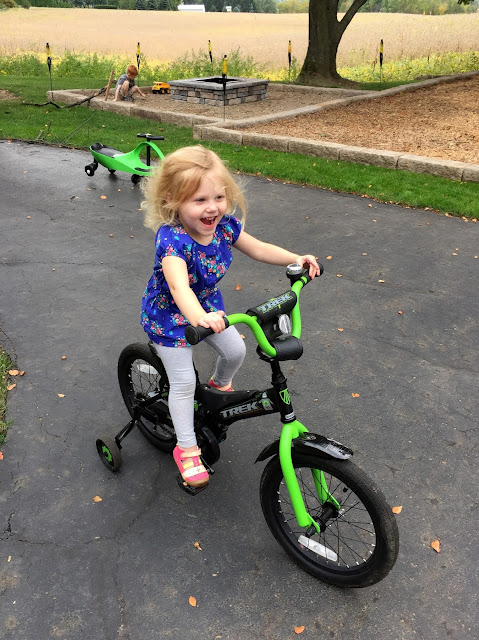 Stella on Porter's Bike