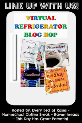 The Virtual Refrigerator is an art post link-up hosted by Every Bed of Roses, Homeschool Coffee Break, Raventhreads, and This Day Has Great Potential #VirtualFridge #art