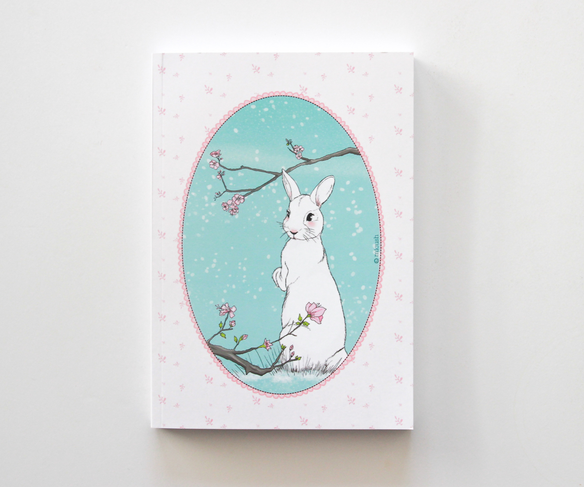 illustrated rabbit notebook