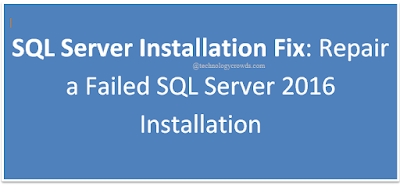 SQL Server Installation Fix