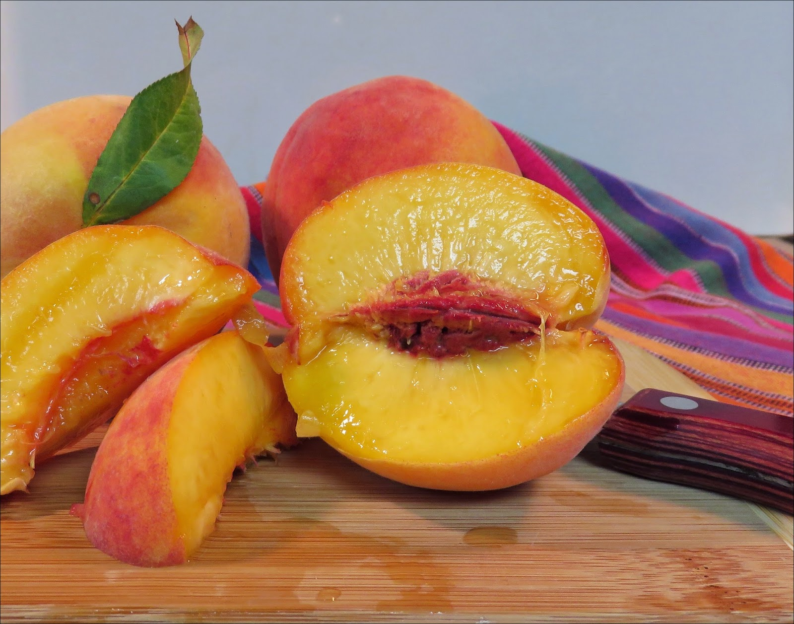 Beth Fish Reads: Weekend Cooking: Peach Galette