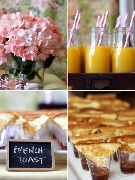 brunch for showers and the kitchen shows some really great food ideas ...