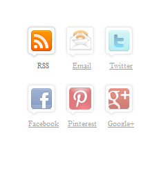 Latest Stylish Subscribe Icons Widget For Blogger