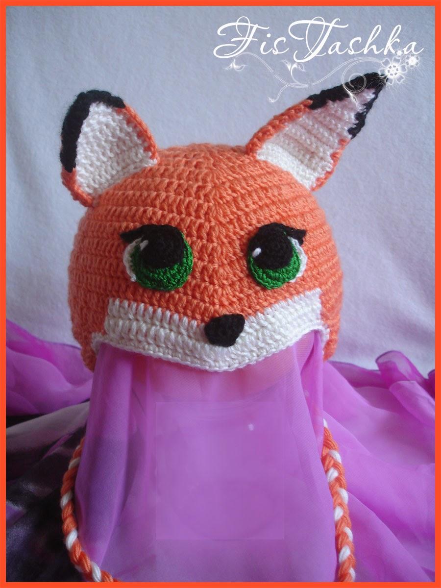 Вязание шапка лисичка