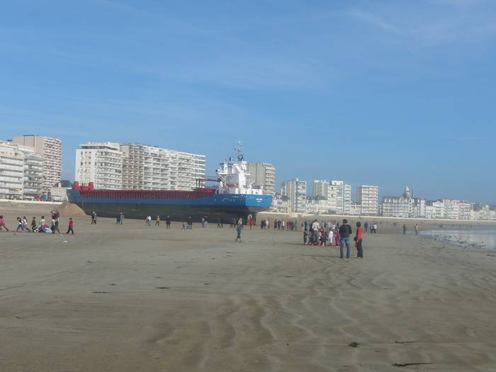 Dutch Cargo Ship  in Les Sables d'Olonne, on France's West Coast