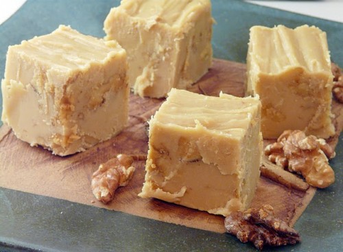 Eggnog Fudge With White Chocolate And Walnuts Recipes — Dishmaps