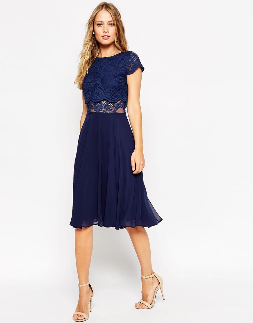 dd20afa1e963d ASOS Crop Top Lace Midi Dress- £45.00