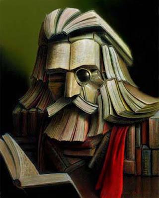 Kitaplardan oluşan insan yüzü yanılması