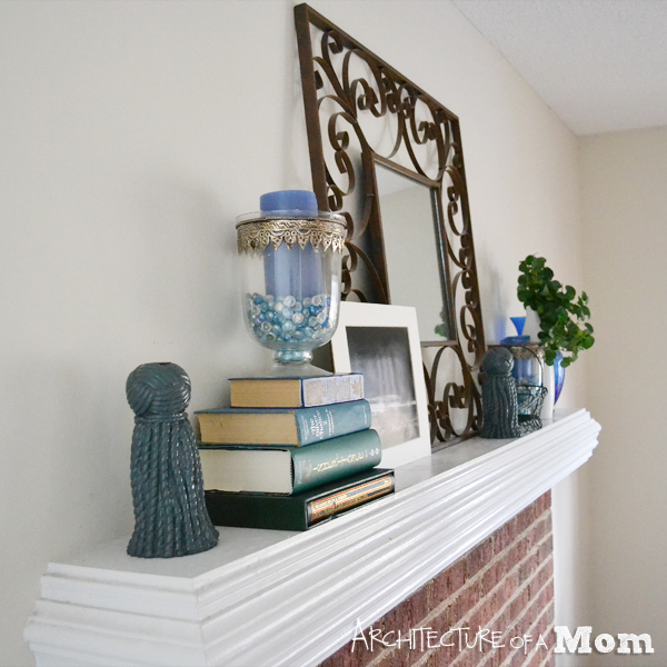 Frugal Mantel using Pantone Emerald