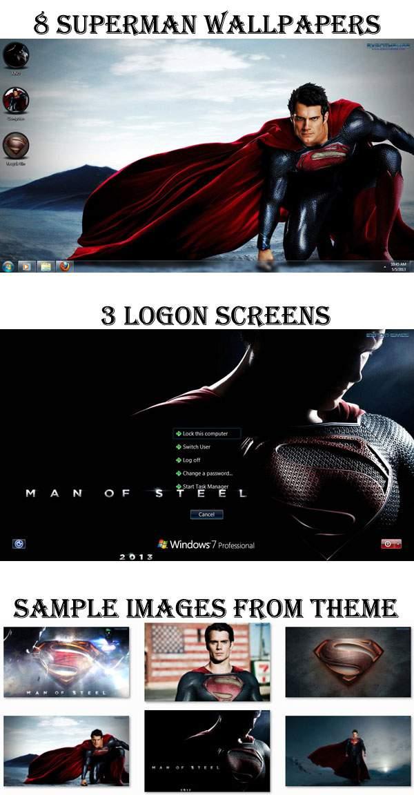 Man of steel pc theme free download