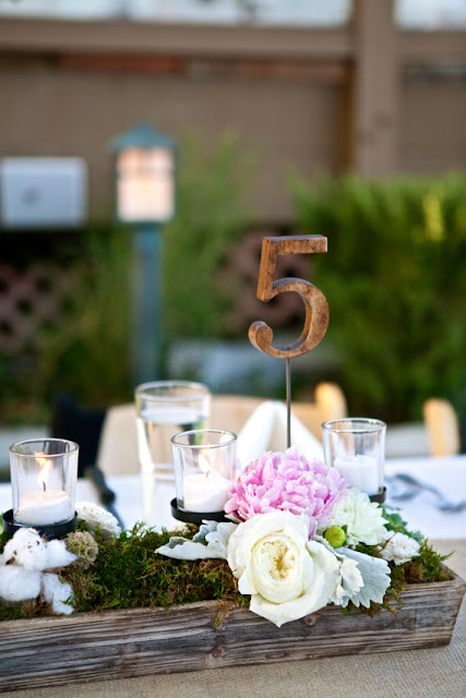 These handcrafted wooden table numbers are the perfect detail for your