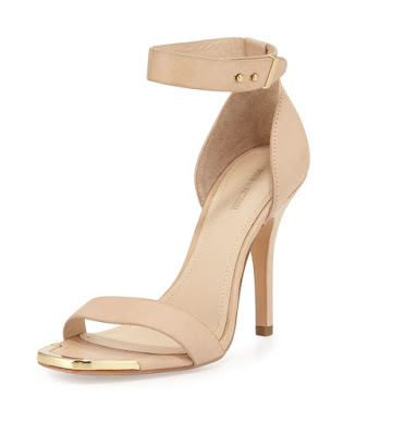 Pour La Victoire Nude barely there heels