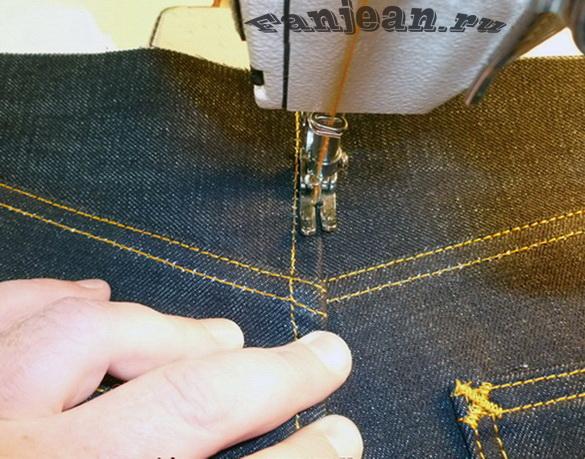 пошив джинсов дома