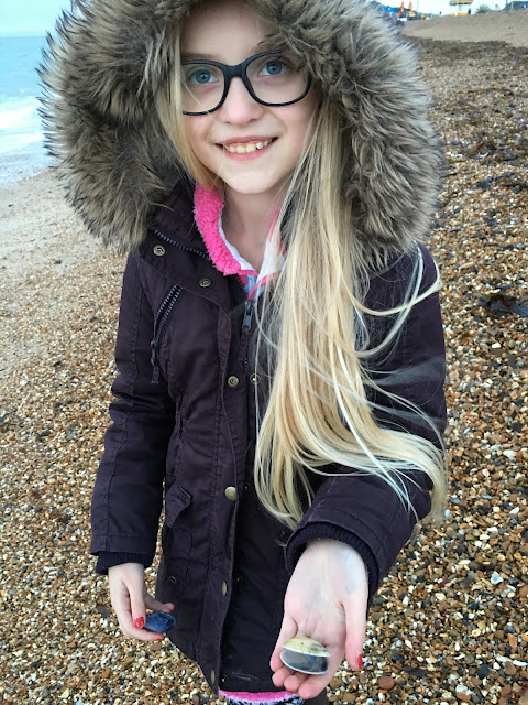 shell collecting in Southsea