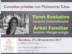 De nuevo en BARCELONA * 27 & 28 septiembre 2017 * ¡Reserva tu cita!