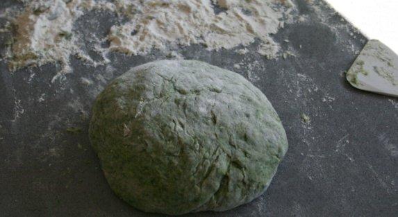 Pasta de espinacas con salsa tres quesos  IMG_0497
