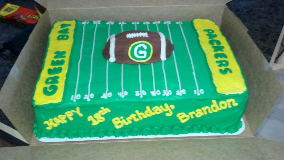 Green Bay Packers Birthday Cake Pin Green Bay Packer Cupcake Cake