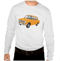 VAZ-2101 Lada 1200 t-shirts tröja skjorta orange