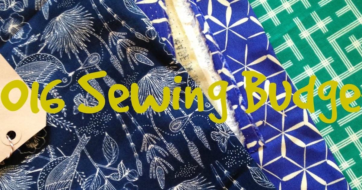 2016 Sewing Budget: January