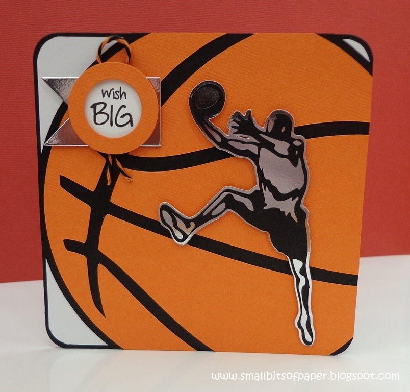 small bits of paper wish big basketball card, Birthday card