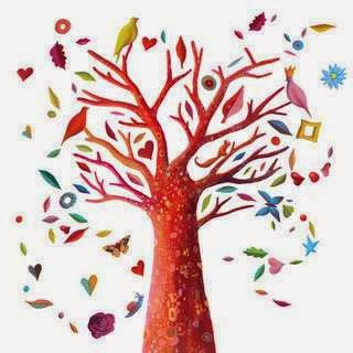 Dibujo de árbol a color