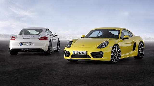 New Porsche Cayman unveiled at Los Angeles Auto Show 2012