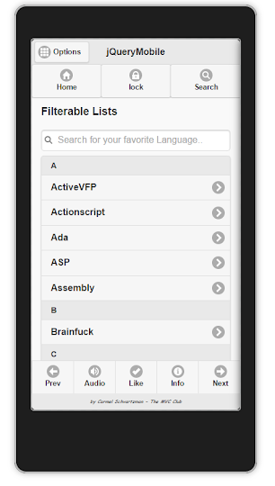 Mobile   Filterable List