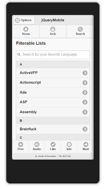 jQueryMobile Collapsible Filterable List with Search   2