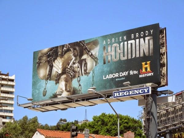 Adrien Brody Houdini History billboard