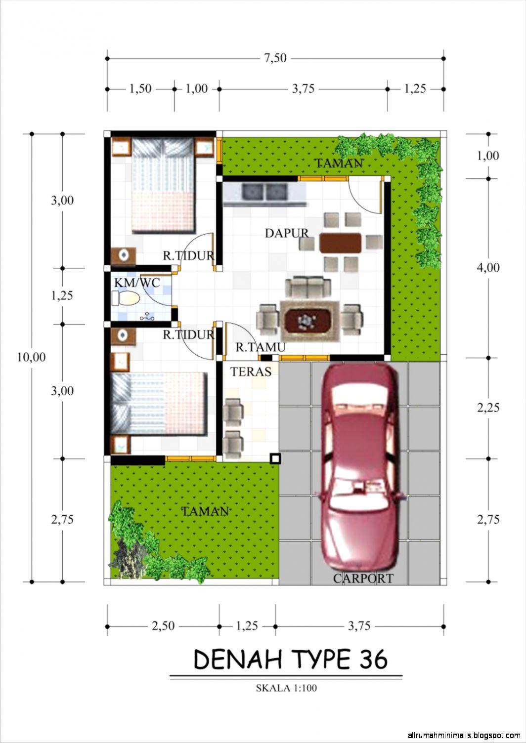 Denah Rumah Minimalis Type 362