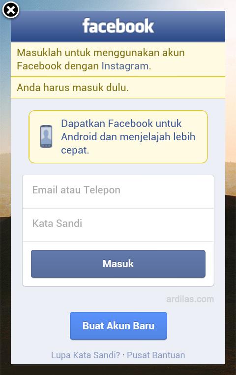 Login Facebook - Bagaimana Cara Mendaftar/Membuat Akun Di Instagram