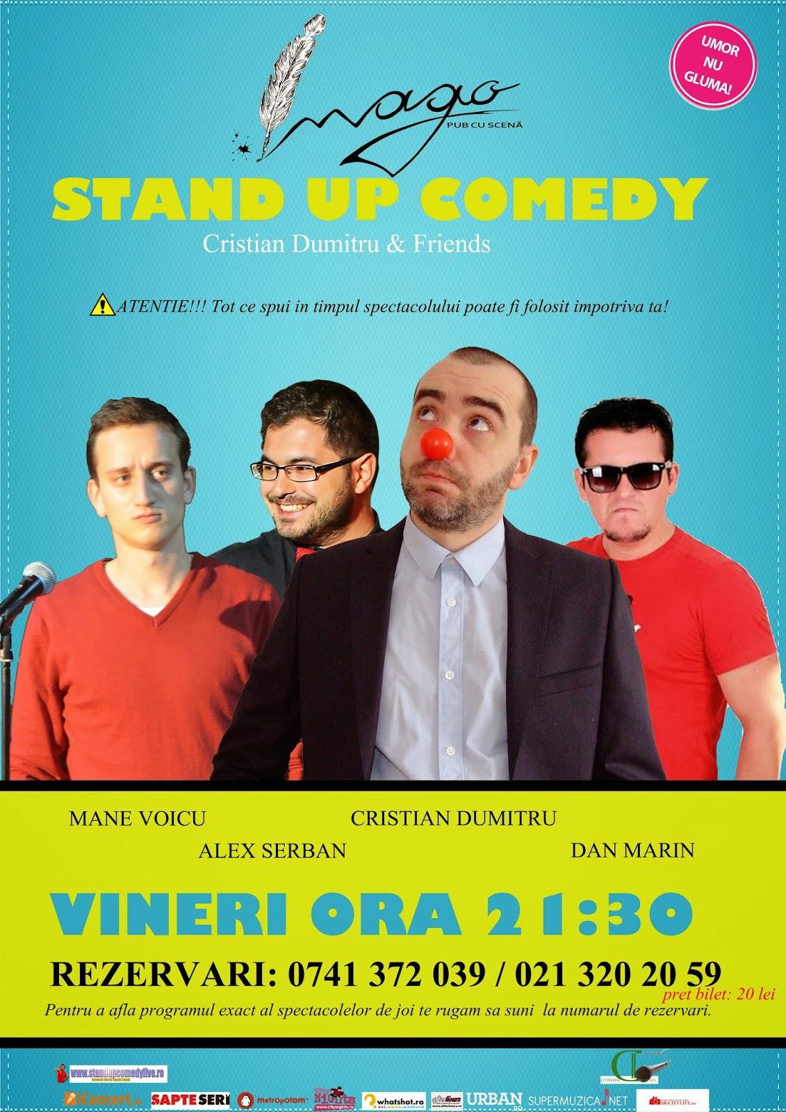 Stand-Up Comedy In fiecare Vineri Bucuresti